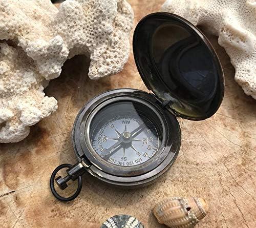 bussola tascabile bussola nautica bussola in ottone orologio da tasca bussola vintage bussola fatta a mano