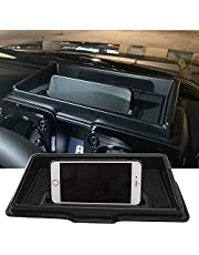 Car Dashboard Storage Box Organizer for Suzuki Jimny 2019 Interior Accessories Multifunction Non-Slip Phone Stand Console Tidying (Black)