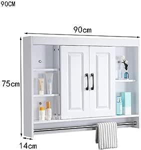 HJFGSAK Mueble de baño Armario con Espejo Oculto de ...