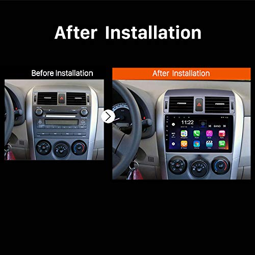 TOOGOO Android 8.1 2 Din Car Radio WiFi Bluetooth 4-Core Multimedia Player GPS Navigation for Toyota Corolla 2008 2009 2010 2011 2012 2013