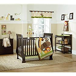 NoJo Kulala Monkey Crib Bedding Set unisex