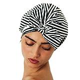 #7: Kitsch Luxe Shower Cap (Black & White Stripe)