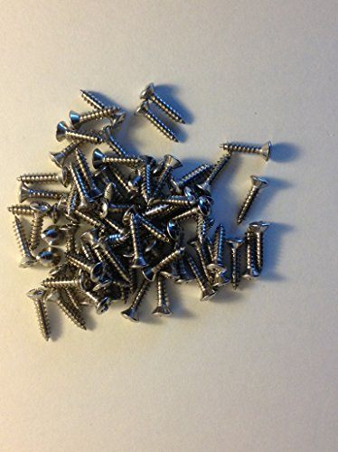 50 X Pickguard Backplate Screws Stainless Steel Phillips #4 X 1/2 inch Made in USA