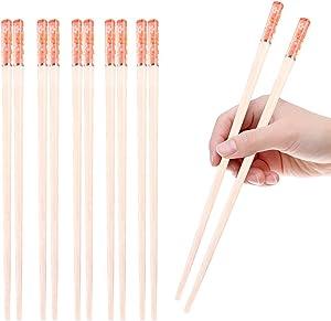 5 Pairs Reusable Chopsticks Dishwasher Safe 9.5 Inch Fiberglass Chopsticks, Japanese Korean Chopsticks for food,pink chopsticks (PINK)