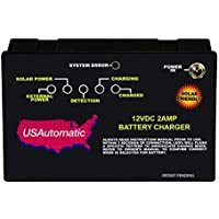 USAutomatic 0520007 12VDC 2 Amp Battery Charger Controller by US Automatic