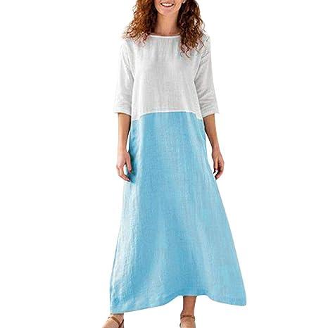 Modaworld Vestidos Mujer Casual Playa Largos Verano Tie Dye