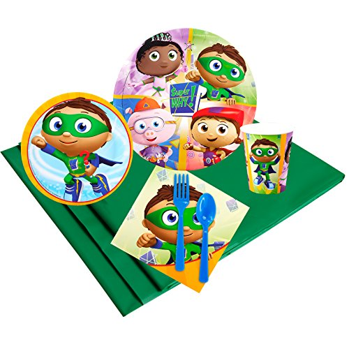 Super Why Childrens Birthday Party Supplies - Tableware Party Pack (24)