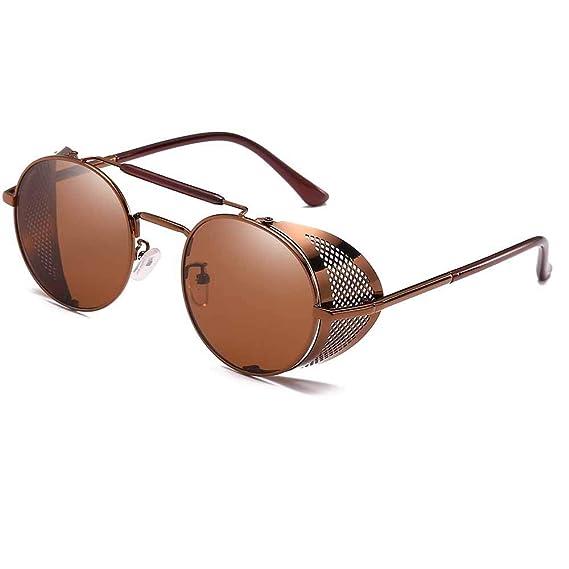 Oneforus Gafas Góticas Retro No Polarizadas de Las Gafas de Sol Steampunk de Doble Haz Retro, Protección UV400