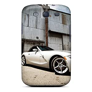 Durable Cases For The Galaxy S3- Eco-friendly Retail Packaging(white Bmw Z4 Roadster Front Angle)