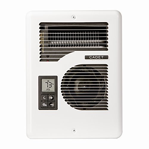 Top Rated Cadet Energy Plus efficient electric wall heater, 1600W/1000W, 240V/120V, with digital thermostat by Cadet