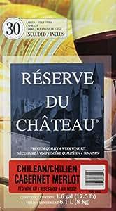 Reserve Du Chateau 4 Week Wine Kit, Chilean Cabernet Merlot, 17.5-Pound Box