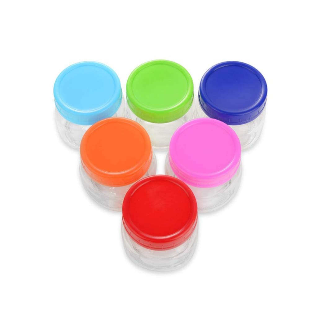 UPKOCH 16PCS Colored Plastic Mason Ball Jar Lids Round Storage Caps for Regular Mouth Canning Mason Ball Jars Mixed Color Only lids