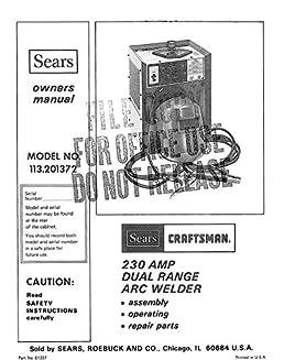 sears welder manual various owner manual guide u2022 rh justk co Craftsman 5 22 Snowblower Parts Craftsman Snow Blower Parts Manuals