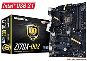 Gigabyte LGA1151 Intel Z170 ATX DDR4 Motherboards GA-Z170X-UD3