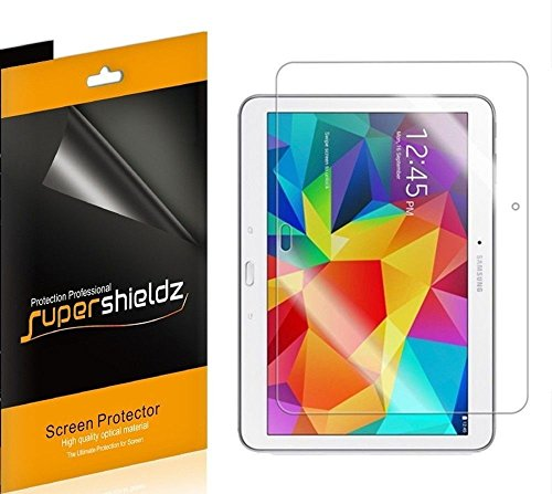 [3-Pack] Supershieldz- High Definition Clear Screen Protector for Samsung (Galaxy Tab 4) 10.1 inch -Lifetime Replacement