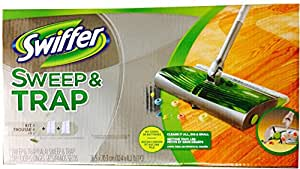 Swiffer Sweep and Trap Floor Cleaner Starter Kit with 2 Dry Cloths