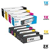 LD Compatible Ink Cartridge Replacements for HP 972A (2 Black, 1 Cyan, 1 Magenta, 1 Yellow, 5-Pack)