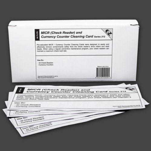 MICR/Check Reader Currency Counter Cleaning Card featuring Waffletechnology