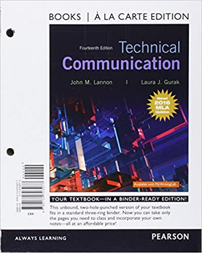 Amazon technical communication mla update books a la carte technical communication mla update books a la carte edition access card package 14th edition 14th edition fandeluxe Image collections