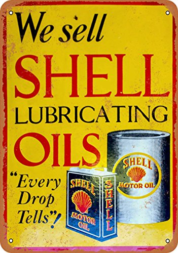 9 x 12 METAL SIGN - Shell Motor Oil - Vintage Look (Motor Oil Reproduction)