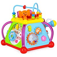 Playking Huile s Baby Musical Activity Cube Play Center with 15 Functions & Skills Learning Educational Toys