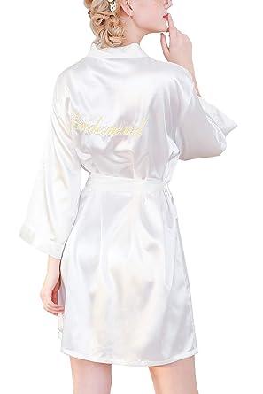 nuovo arrivo 09791 7241f YAOMEI Donna Sposa Kimono Vestaglia Pigiama Sleepwear, di ...