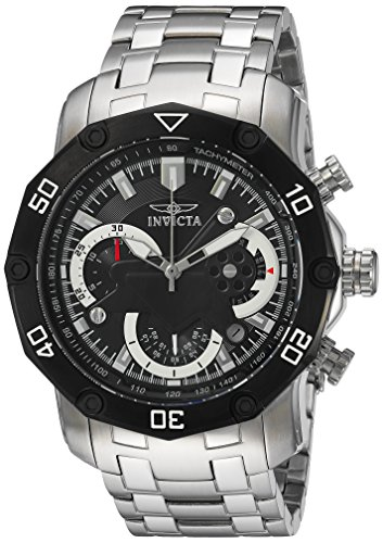 Invicta Men s Pro Diver Quartz Watch with Stainless-Steel Strap, Silver, 26 Model 22760