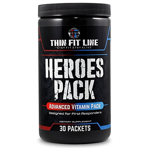 'HEROES PACK' - Multivitamin Pack (30 Servings) | Individual Vitamin Paks for Men & Women | Optimal Daily Health & Nutrition Supplement Packets | Pure Vitamins A, E, C, B ()