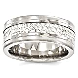ICE CARATS Edward Mirell Titanium 925 Sterling Silver Brushed 9mm Band Ring Size 9.00 Wedding Man Classic Flat Fancy Precious Metal Fine Jewelry Gift Set For Women Heart
