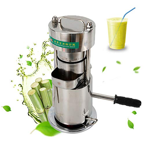 Sugar Cane Juicer, Fruit Juice Extractor Manual Sugar Cane Press Juicer Mill/Crusher Machine for Home Industrial & and Commercial Use - 10 Tons