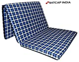 SUGANDHA SLEEPINNS 2.2 Inches 3 Fold Single Size Foam Mattresses (72' X 35' X 2.2-inch, Checkered)