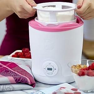 StoreBound DGY001WPK White with Pink Trim Dash Greek Yogurt Maker, Multicolor