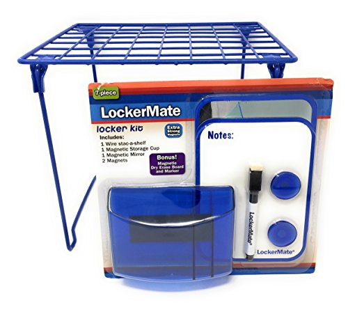 7 - Piece Blue Locker Kit Including Locker Shelf