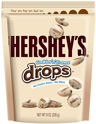 Hershey's Cookies & Creme White Chocolate Drops, 8 oz (Hershey Chocolate Drops)