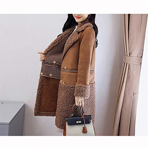 Vêtements Coton D'agneau Carreaux Longue D'hiver De Section Chameau Veste Laine À Nzdy En Capuche Manteau Laine Manteau 6ZzWx