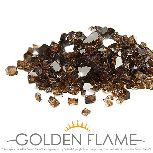 Golden Flame 10-Pound x 1/2-Inch (Fire Glass) Rich-Copper Reflective (1/2 Glass Chips)