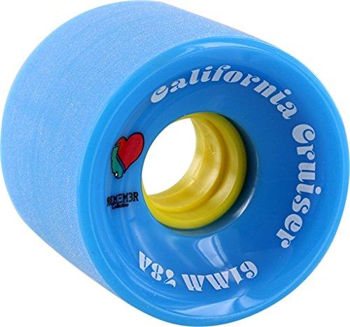 Remember California Cruiser Blue / Yellow Skateboard Wheels - 61mm 78a (Set of - Mm 61