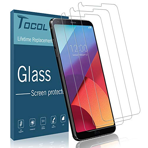 [3 Pack] TOCOL Screen Protector for LG G6, [Case Friendly] [Japan Glass with 9H Hardness] Tempered Glass with Lifetime Replacement Warranty