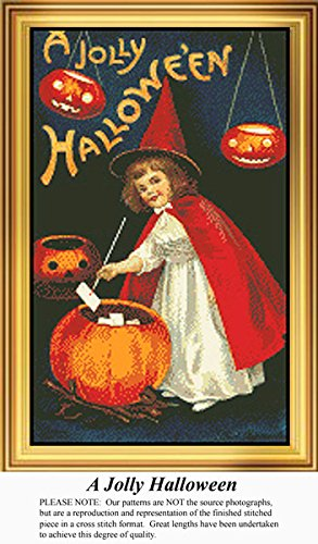 A Jolly Halloween, Vintage Counted Cross Stitch Pattern (Pattern Only, You Provide the Floss and Fabric)]()