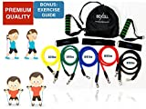 RESISTANCE BANDS SET - Straps, Exercise Bands, Bodybuilding, Fitness Equipment, Home Gym, Abs Workout, Pilates, Yoga, Weight Loss, Resistant Band