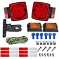 LED Trailer Light Kit - JUNGLEROAD CAR Supplies 2018 New 12V LED Trailer Tail Light Kit for Under 80 Inch Boat Trailer Truck with Wiring Harness, License Plate Bracket, Reflective Stickers