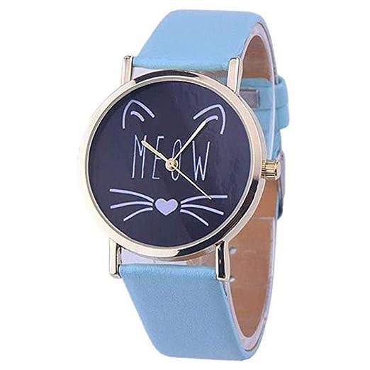 Scpink Las Mujeres del Gato Lindo patrón de liquidación señoras analógicas Relojes de Pulsera Relojes de