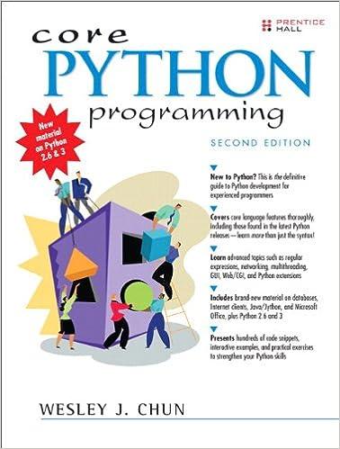 Core Python Programming, Portable Documents (Core Series) 2