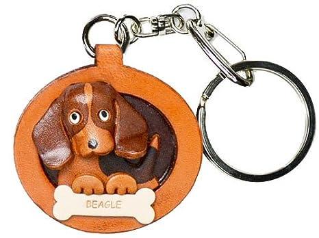 Amazon.com: Beagle piel placa perro llavero vanca craft ...