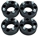 4pcs 2.0'' 4/110 4x110 ATV Wheel Spacers for Yamaha Grizzly Rhino Kawasaki Suzuki Honda (Black)