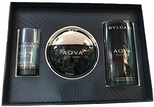 Bvlgari Aqva 3 Piece Gift Set Includes: 5.0 OZ EDT Spray, 2.6 OZ Deodorant Stick, 6.8 OZ Shampoo and Shower - Bvlgari Store