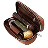 Scotte PU Leather Tobacco Smoking Wood Pipe Pouch