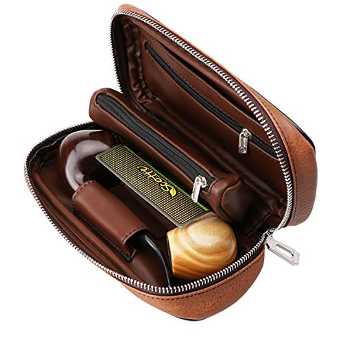 Scotte PU Leather tobacco Smoking Wood pipe pouch case/bag for 2 tobacco pipe and other accessories(Does not include pipes and accessories) by Scotte (Image #7)