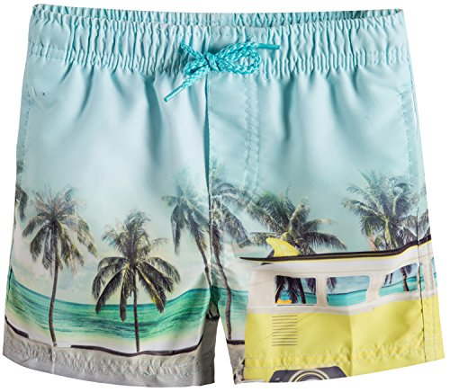 Infant Boy Swim Trunks (Akula Baby & Toddler Boy's Board Shorts With Built-In Brief Mesh Liner 12 months)