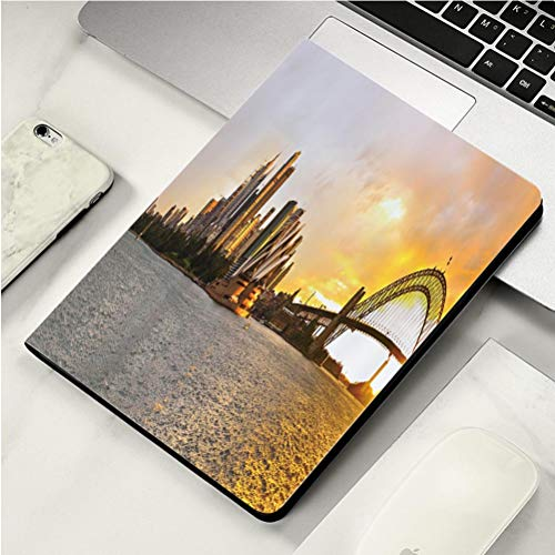 (Stylish Print case for iPad air, ipad air2, Soft Back Ultra-Thin TPU Leather Smart case,Sydney Harbor Large Panorama)